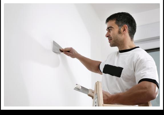 Aplicar producto sobre pared