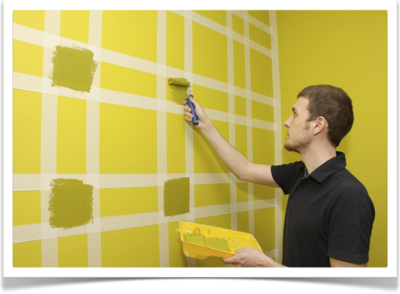 Ideas originales para pintar tu pared bricopared beissier for Como decorar una pared con pintura