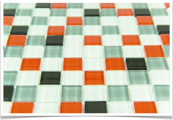 Mosaico de gresite de colores