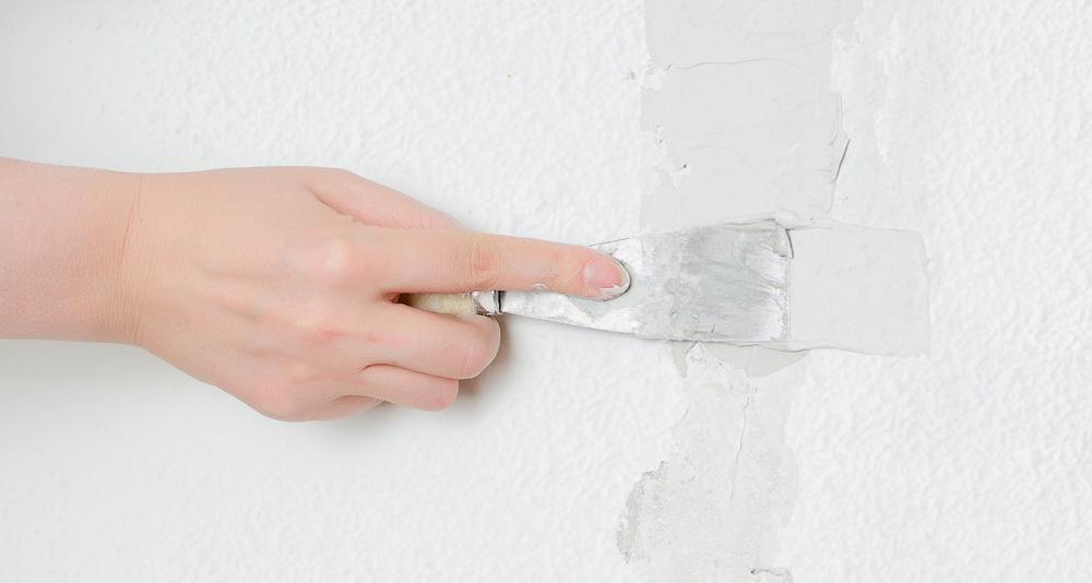 Reparar desperfectos en gotelé