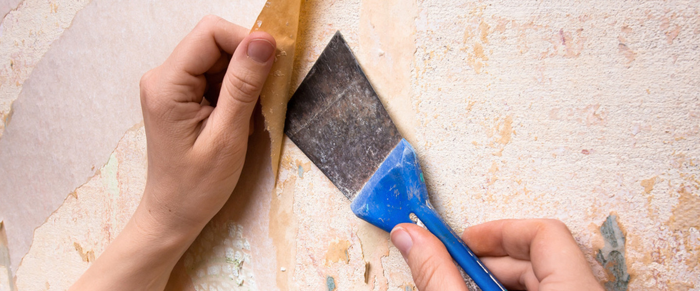 Truco para retirar papel pintado