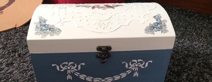 Manualidades con una caja de madera