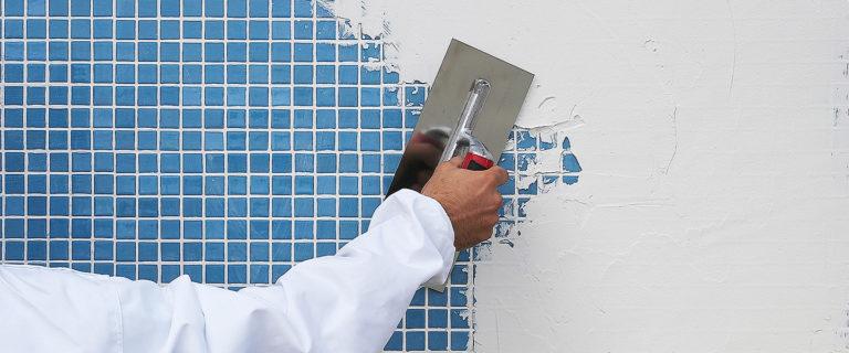 Aguaplast Express cubriendo azulejos