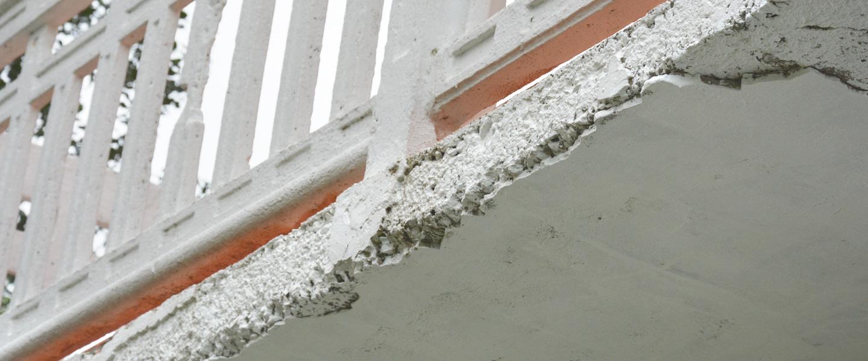 Arreglar desperfectos en voladizos de balcones