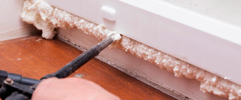 Truco para limpiar restos de espuma de poliuretano