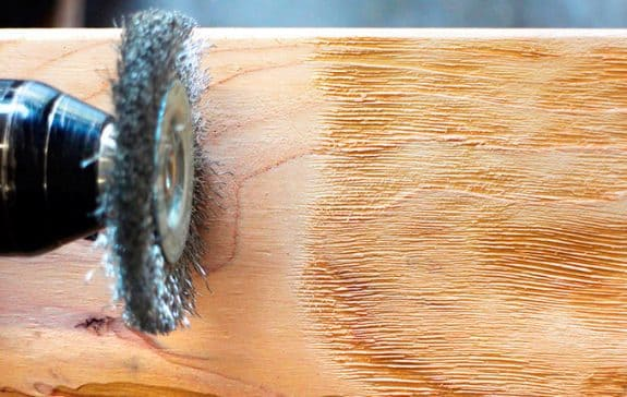 resultado de un cepillado al alambre