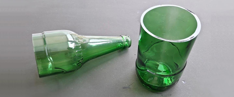 Truco: cortar botellas de vidrio sin herramientas