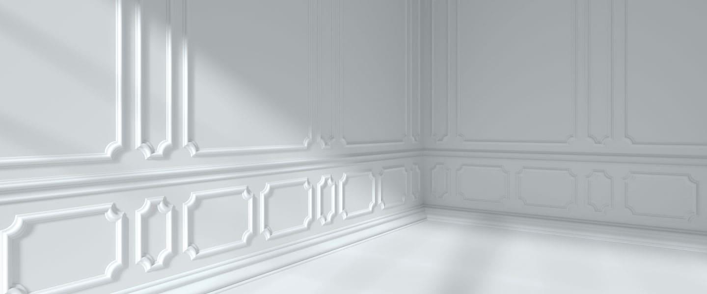 Cómo colocar molduras decorativas en las paredes