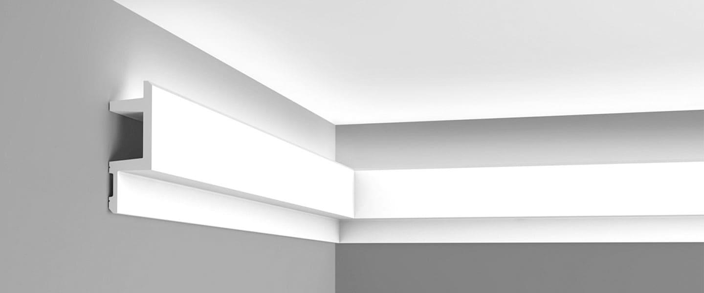Iluminación indirecta mediante molduras iluminadas por led