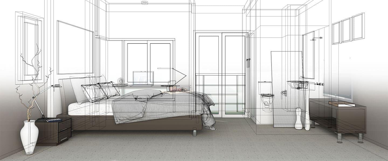 Distribución y dimensionamiento de una habitación principal