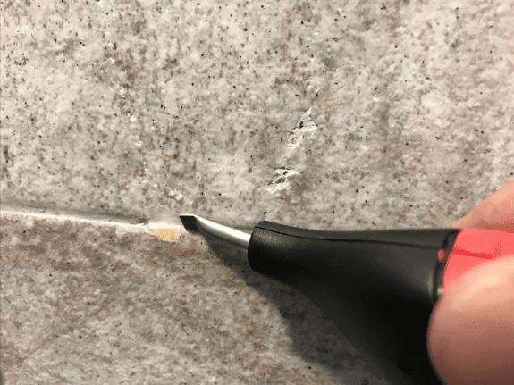 reparando aguejero con ceras 2