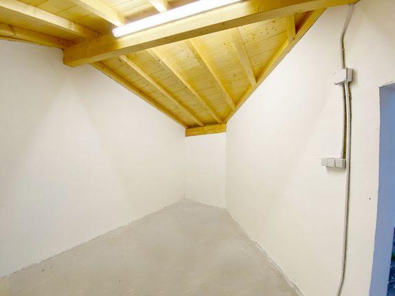 esquina del garaje pintada