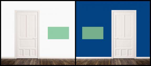 colores y puertas verdes