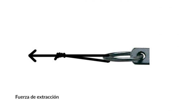 fuerza de extracción