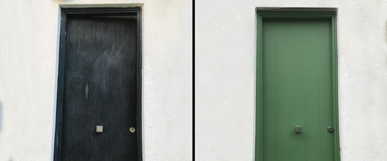 Renovación de una puerta principal con Todo Terreno al Agua