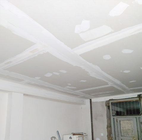 placas enlucidas en el techo