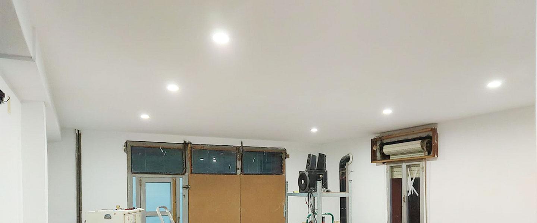 Construcción sencilla de un techo de yeso laminado