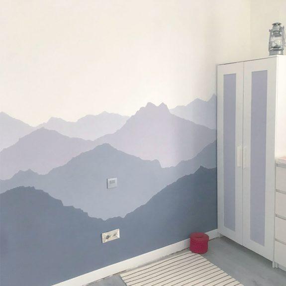 pared con montañas